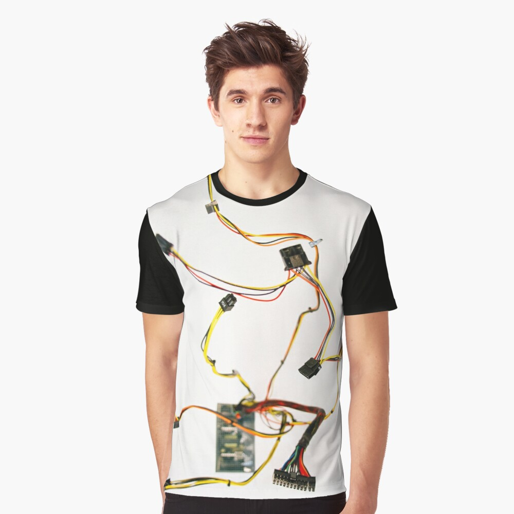 Power Supply Cable Graphic T-Shirt