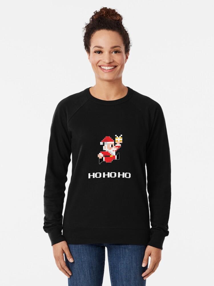 Alternative Ansicht von 8-Bit Weihnachtsmann Leichter Pullover