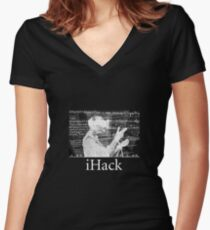 iHack Women's Fitted V-Neck T-Shirt