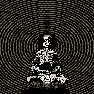 SKINNY SEATED BUDDHA by BIGjuneFineArt