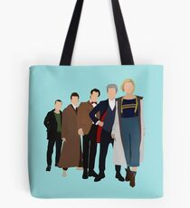 Doctor Who - All Five Modern Doctors - New Costume! (DW Inspired) - 13th Doctor Tote Bag