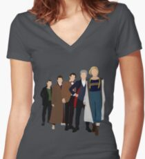 Doctor Who - All Five Modern Doctors - New Costume! (DW Inspired) - 13th Doctor Women's Fitted V-Neck T-Shirt