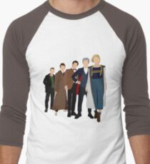 Doctor Who - All Five Modern Doctors - New Costume! (DW Inspired) - 13th Doctor Men's Baseball ¾ T-Shirt