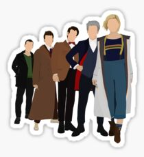 Doctor Who - All Five Modern Doctors - New Costume! (DW Inspired) - 13th Doctor Sticker