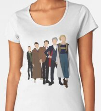 Doctor Who - All Five Modern Doctors - New Costume! (DW Inspired) - 13th Doctor Women's Premium T-Shirt