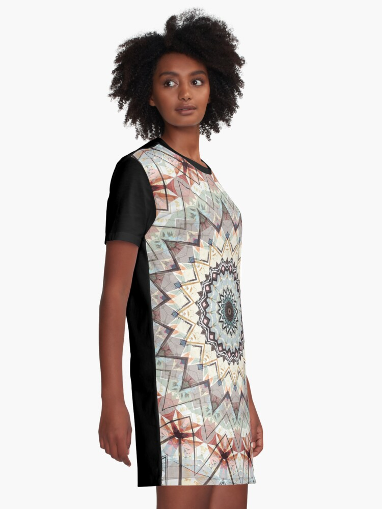 Alternate view of Autumn Colors Abstract Graphic T-Shirt Dress