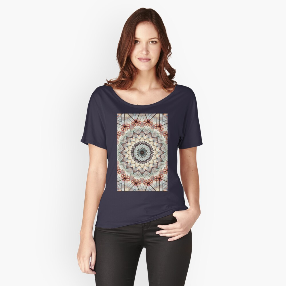 Autumn Colors Abstract Relaxed Fit T-Shirt