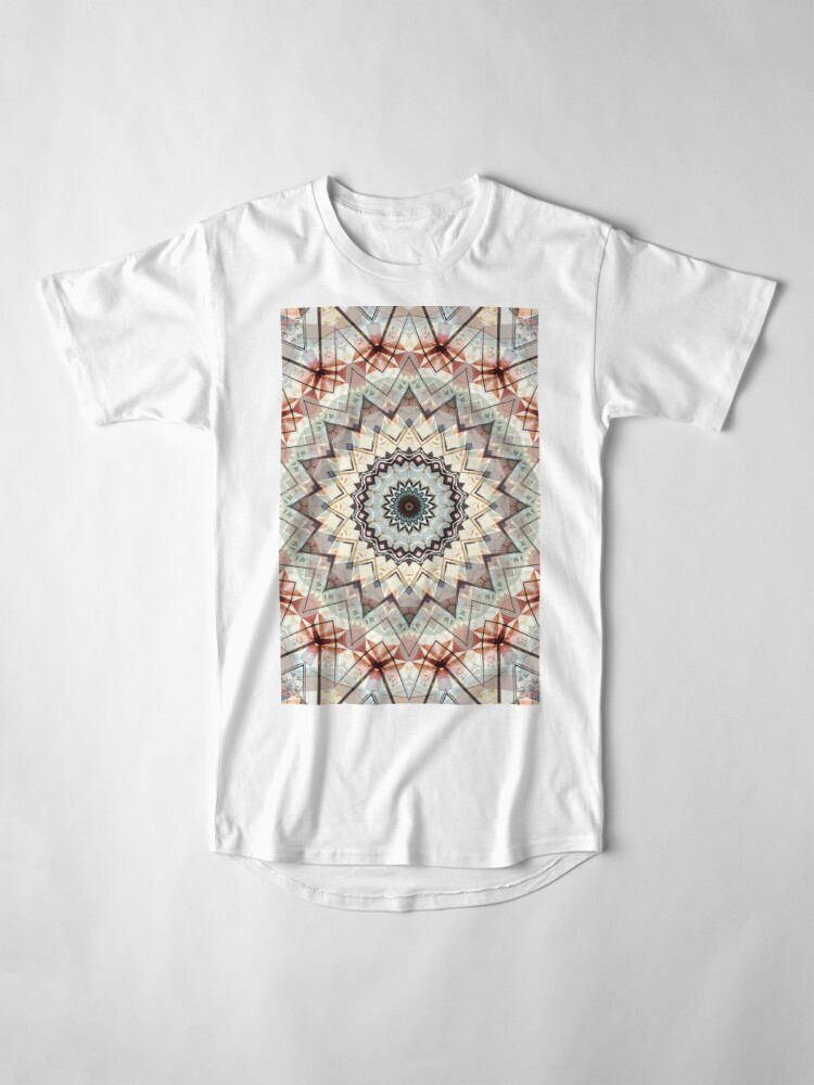 Alternate view of Autumn Colors Abstract Long T-Shirt