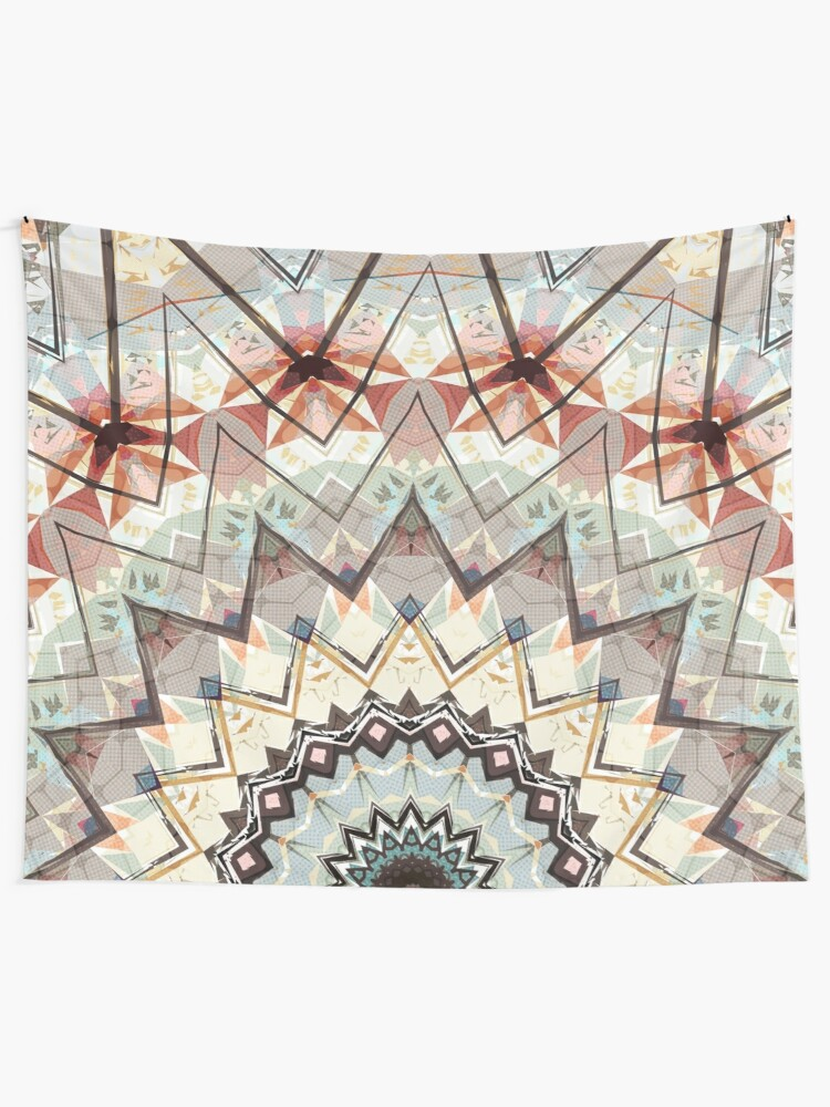 Alternate view of Autumn Colors Abstract Tapestry