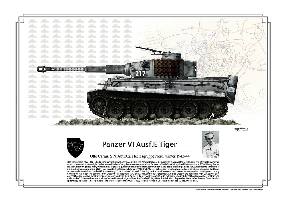 Panzer VI Ausf.E Tiger Spz Abt. 502 Otto Carius winter 1943-44 by TheCollectioner