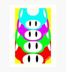 Super Mario Warhol Mushroom Poster Art Print