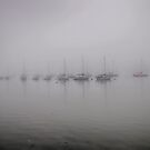 Yachts In The Fog by Dave Godden