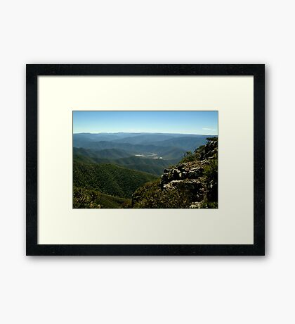 Billy Goat Bluff Track,Victorian High Country Framed Print