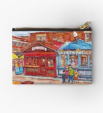 OTTAWA BYWARD MARKET CANADIAN SCENES OUTDOOR URBAN MALLS ICE CREAM AND PASTRY SHOPS C SPANDAU ARTIST Studio Pouch