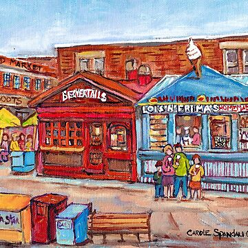 OTTAWA BYWARD MARKET CANADIAN SCENES OUTDOOR URBAN MALLS ICE CREAM AND PASTRY SHOPS C SPANDAU ARTIST by CaroleSpandau