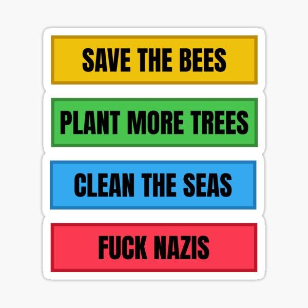 Chemises et cadeaux anti-fascistes écologistes Sticker