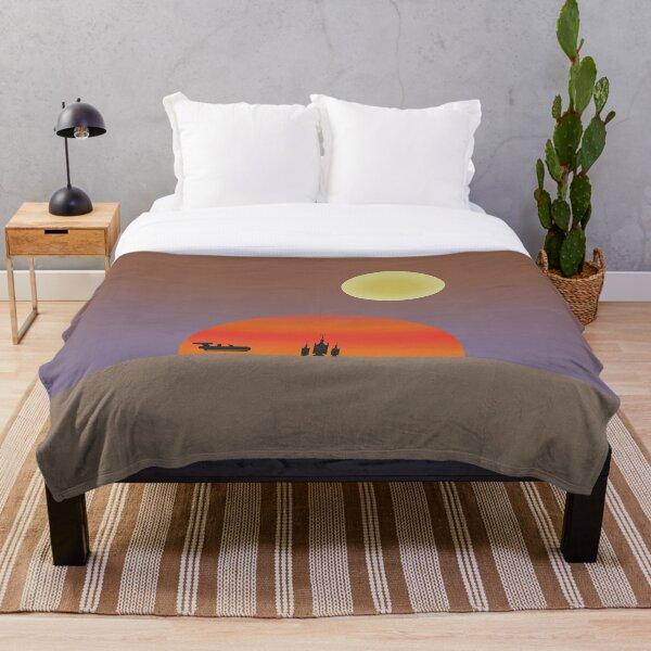 TATOOINE SUNSET Throw Blanket