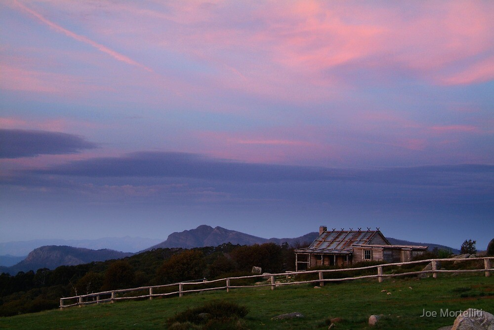 Dusk at Craigs Hut by Joe Mortelliti