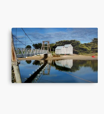 Swing Bridge Lorne Metal Print