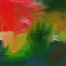 A Loose Mess Abstract by Shelli Fitzpatrick