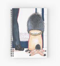 Little floursack and friend - visiting London Spiral Notebook