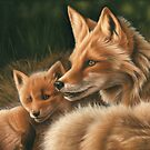 Fox and Cub by Richard Macwee