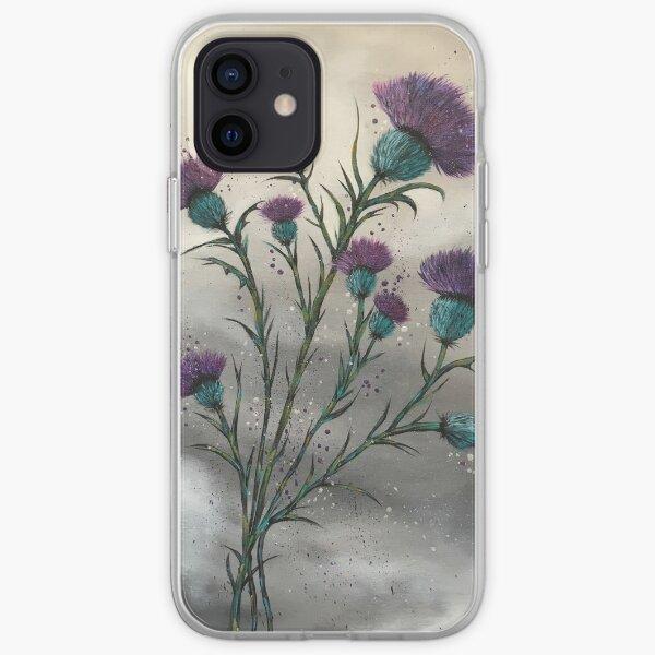Scottish traditional purple thistle  iPhone Soft Case