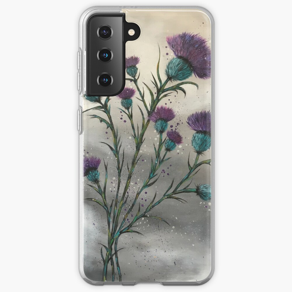 Scottish traditional purple thistle  Case & Skin for Samsung Galaxy