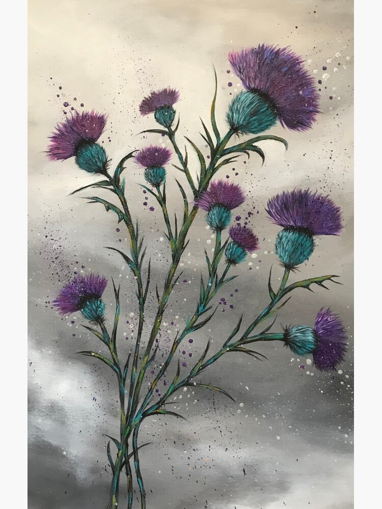 Scottish traditional purple thistle  by Amazingraceart