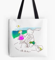 Auf zum Strand, Kinder! - ¡Vamos a la playa, niños!  -  Let´s Go to the Beach, Kids! Bolsa de tela