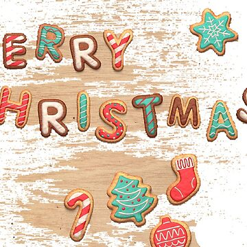 Gingerbread man merry christmas by Johnnypointjoe