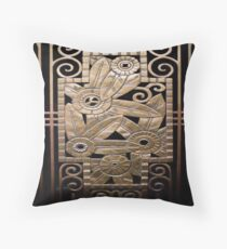 Art deco,vintage,elegant,chic,1920 era,bronze,black,beautiful,the great gatsby Throw Pillow