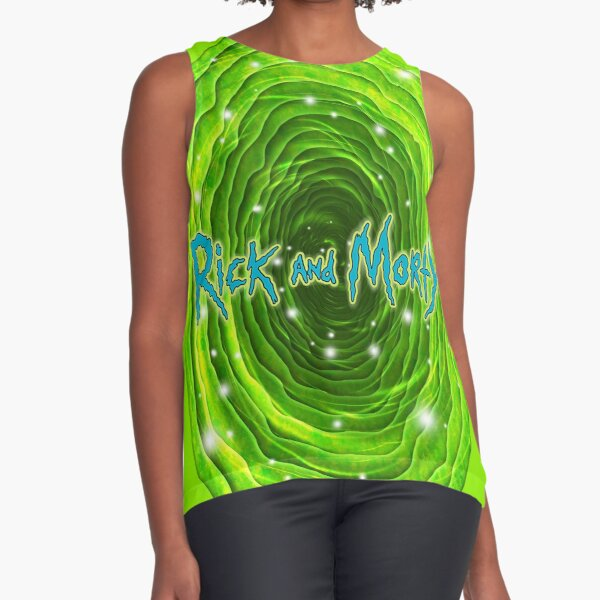 Rick and Morty Infinity Portal Sleeveless Top