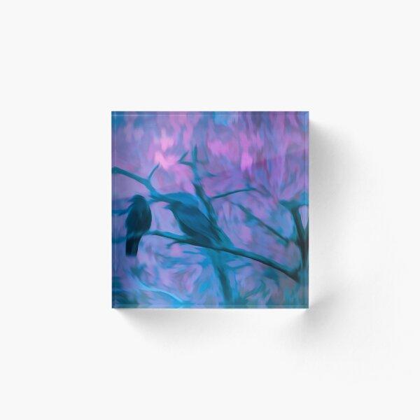 Crow Spirit Acrylic Block