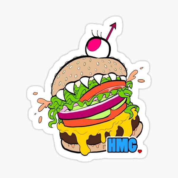 Hungry Monster Girls Logo - BLUE Sticker