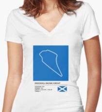 Knockhill Racing Circuit - v2 Women's Fitted V-Neck T-Shirt