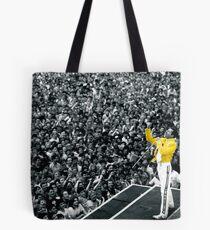 Fredddie Mercury Rock Concert Yellow Jacket Tote Bag