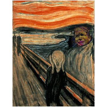 The American Scream - an Updated Edvard Munch Classic  by Chunga