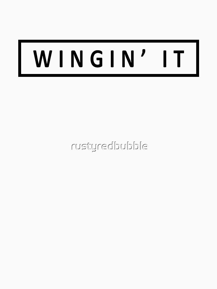 Wingin' it by rustyredbubble