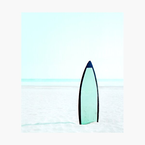 Surf Art   Surfboard on Beach Photographic Print