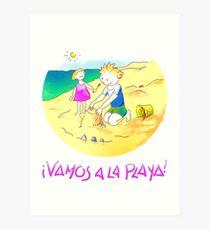 ¡Vamos a la playa, niños!  -  Let´s Go to the Beach, Kids!  - Auf zum Strand, Kinder! Lámina artística