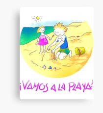 ¡Vamos a la playa, niños!  -  Let´s Go to the Beach, Kids!  - Auf zum Strand, Kinder! Lienzo