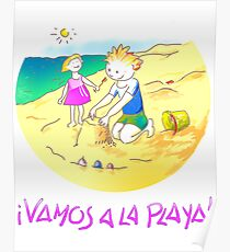 ¡Vamos a la playa, niños!  -  Let´s Go to the Beach, Kids!  - Auf zum Strand, Kinder! Póster