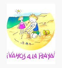 ¡Vamos a la playa, niños!  -  Let´s Go to the Beach, Kids!  - Auf zum Strand, Kinder! Lámina fotográfica