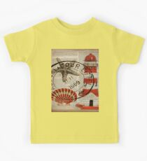 shabby chic vintage sea shells nautical lighthouse  Kids Clothes