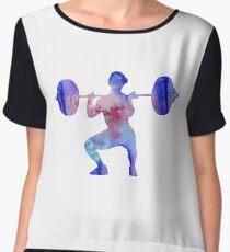 Female weightlifter, deadlift pick, woman weightlifter, weightlifting Chiffon Top
