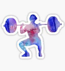 Female weightlifter, deadlift pick, woman weightlifter, weightlifting Sticker