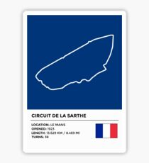 Pegatina Circuito de la Sarthe - v2