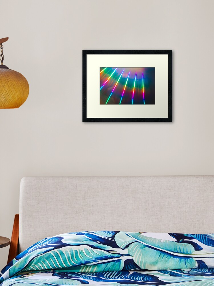 Rainbow Lights Framed Art Print By Sashasayys Redbubble