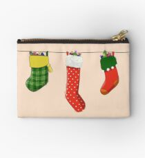 Three Christmas Stockings Studio Pouch